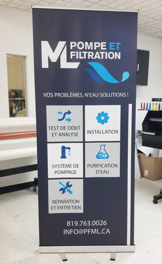 Bannière Pompes et Filtration ML